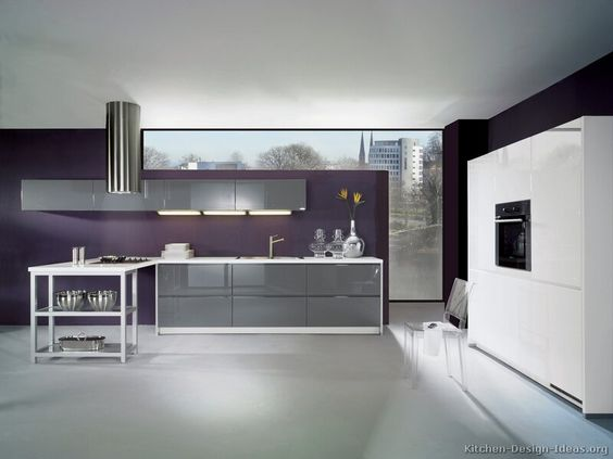 71a8273f6ef84d82277f625ba24dcf2a--purple-kitchen-walls-gray-kitchen-cabinets